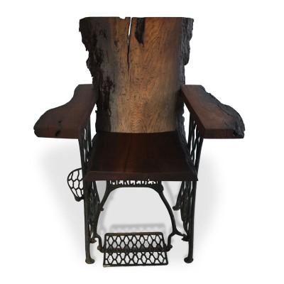 """Кресло """"Mercedes"""" из слэба мореного дуба №95"""