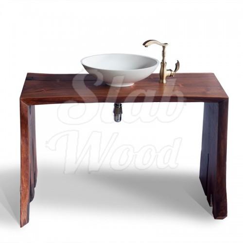 Рукомойник в ванную комнату с слэба ореха в стиле ЭКО №13