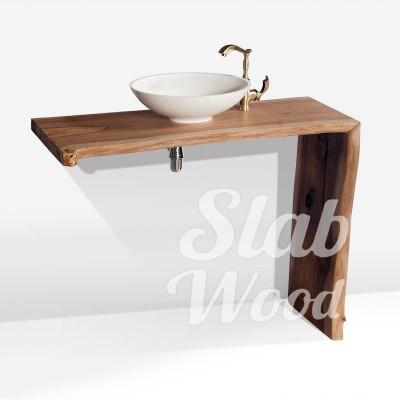 Рукомойник в ванную комнату с слэба ореха в стиле ЭКО №20