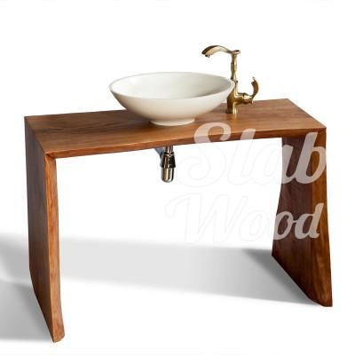 Рукомойник в ванную комнату с слэба ореха в стиле ЭКО №23