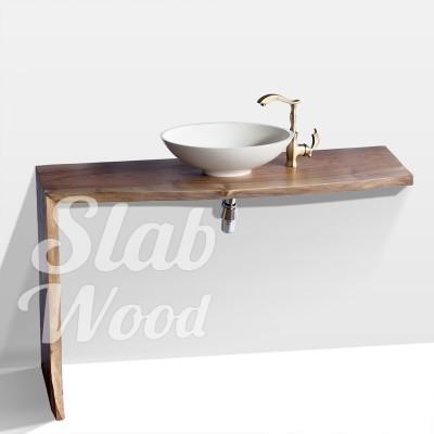 Рукомойник в ванную комнату с слэба ореха в стиле ЭКО №27