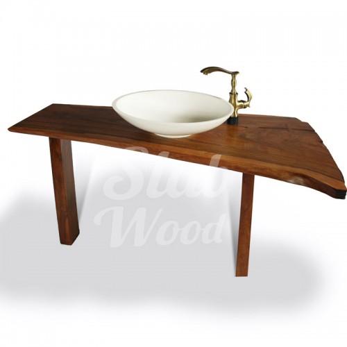 Рукомойник в ванную комнату с слэба ореха в стиле ЭКО №70