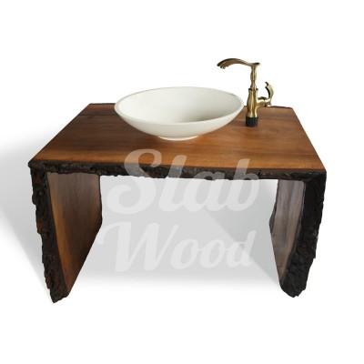 Рукомойник в ванную комнату с слэба ореха в стиле ЭКО №71