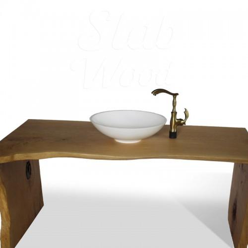 Рукомойник в ванную комнату с слэба ореха в стиле ЭКО №72