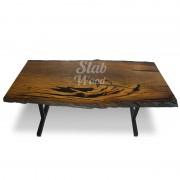 Стол со слэба мореного дуба в стиле ЛОФТ №78