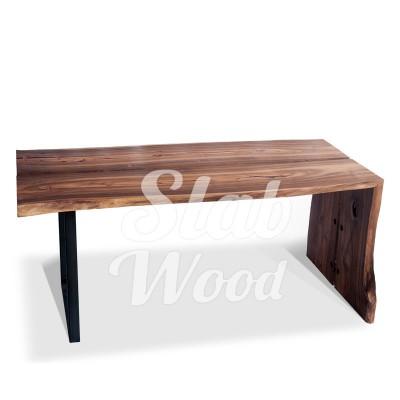 Стол со слэба ореха в стиле Лофт №1