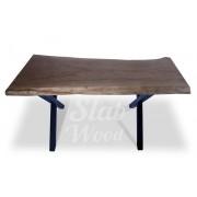 Стол со слэба дуба в стиле Лофт №100