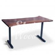 Стол со слэба ореха в стиле Лофт №12
