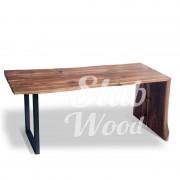 Стол со слэба ореха в стиле Лофт №2