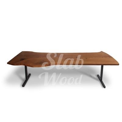 Стол со слэба дуба в стиле Лофт №30