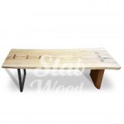 Стол со слэба ясеня в стиле Лофт №39