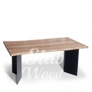 Стол со слэбов ореха в стиле Лофт №4