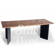 Стол со слэба ореха в стиле Лофт №5