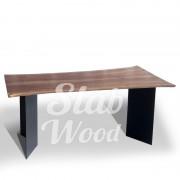 Стол со слэба ореха в стиле Лофт №6