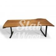 Стол со слэба дуба в стиле Лофт №64