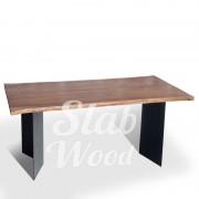 Стол со слэба ореха в стиле Лофт №8