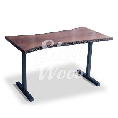 Стол со слэба ореха в стиле Лофт №9
