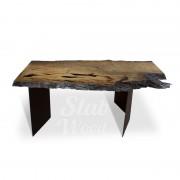 Стол со слэбов мореного бука в стиле ЭКО №99