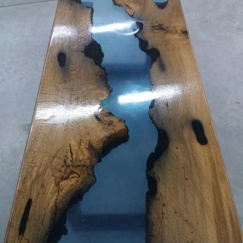 Стол из слэбы мореного дуба
