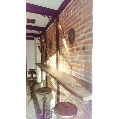 Столешница в бар со слэбы дуба №156