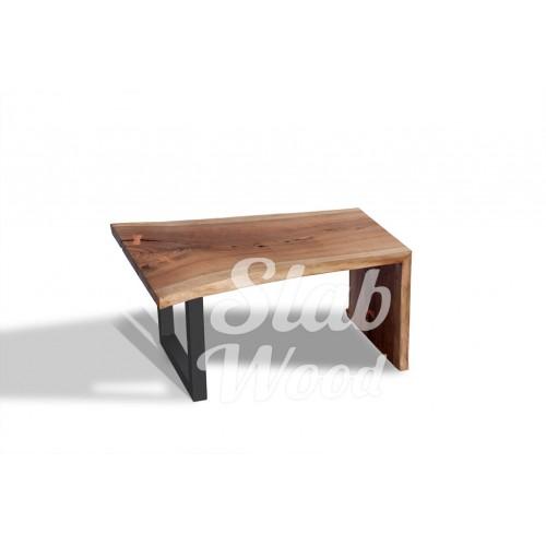 Журнальный столик со слэба ореха в стиле ЛОФТ №14