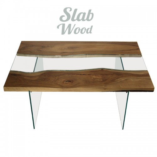 Журнальный столик из ореха в стиле ЛОФТ №33