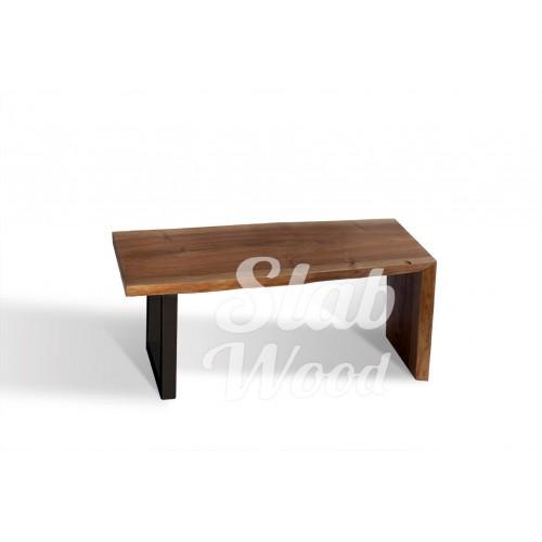 Журнальный столик со слэба ореха в стиле ЛОФТ №24