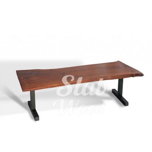 Журнальный столик со слэба ореха в стиле ЛОФТ №25