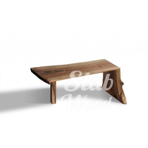 Журнальный столик со слэба ореха в стиле ЭКО №26